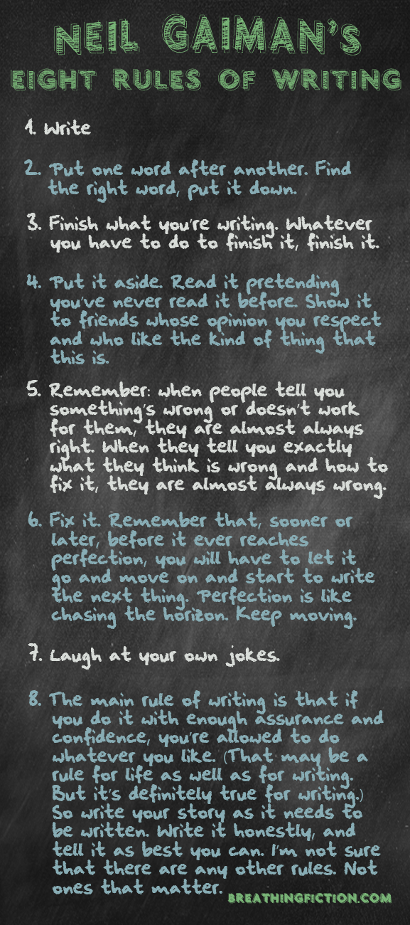 10 Pieces of Writing Advice From Neil Gaiman #FridayReflections
